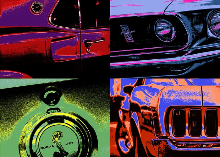 Pop Greeting Card featuring the photograph '69 Mustang by Gordon Dean II