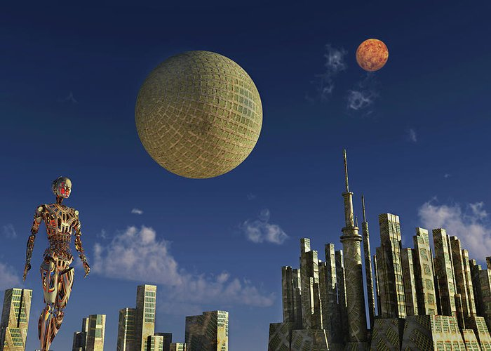 A Type 2 Dyson Sphere Civilization Greeting Card