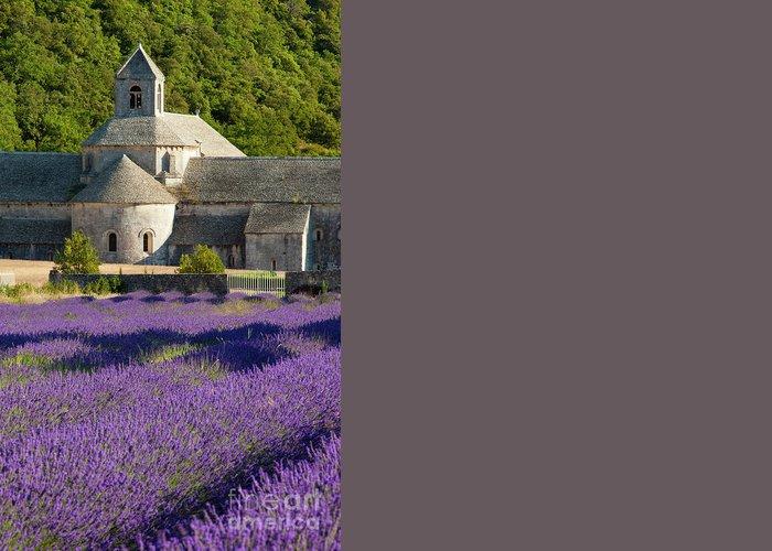 Abbaye Greeting Card featuring the photograph Abbaye De Senanque by Brian Jannsen