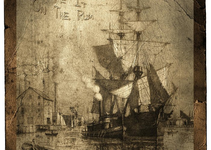 Schooner Greeting Card featuring the photograph Blame It On The Rum Schooner by John Stephens