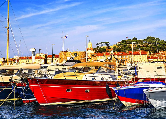 Yacht Greeting Card featuring the photograph Boats At St.tropez by Elena Elisseeva