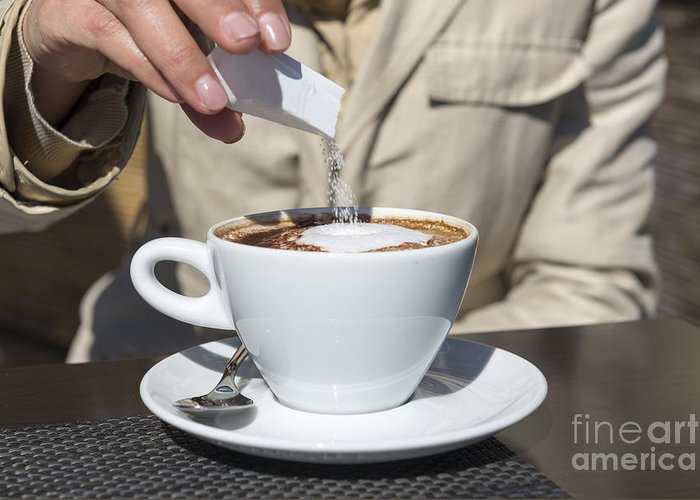 Cup Of Coffee Greeting Card featuring the photograph Cup Of Coffee by Mats Silvan