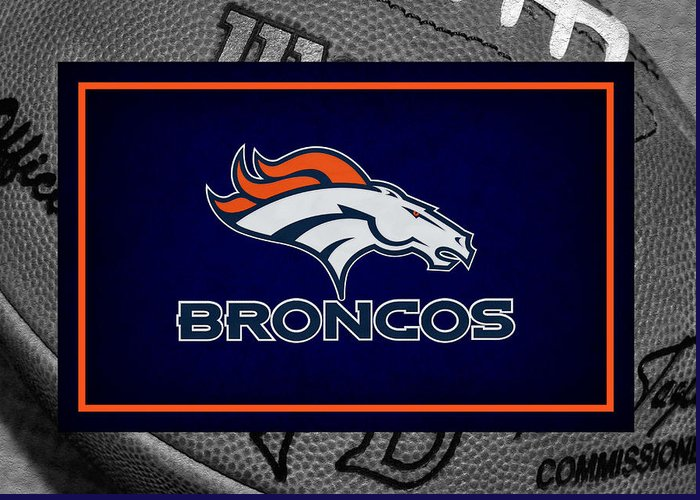 Broncos Greeting Card featuring the photograph Denver Broncos by Joe Hamilton