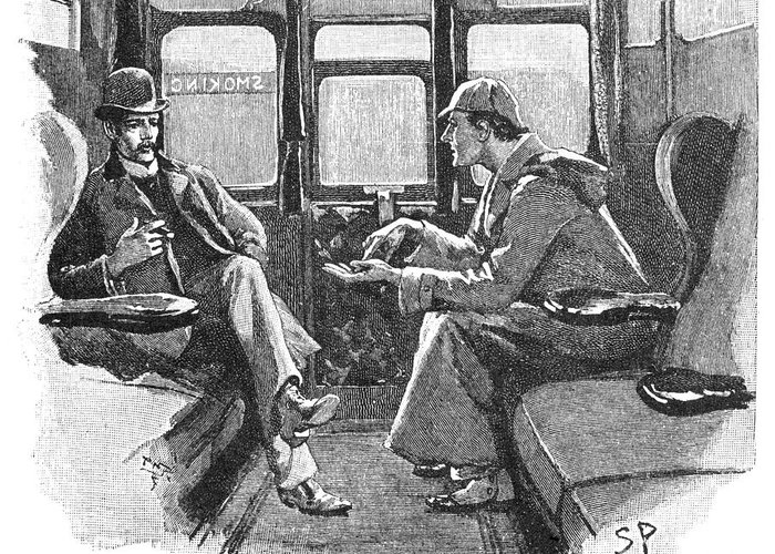 Image result for sherlock holmes illustrations greeting cards