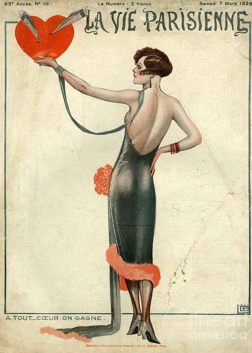1920�s Greeting Card featuring the drawing La Vie Parisienne 1925 1920s France by The Advertising Archives