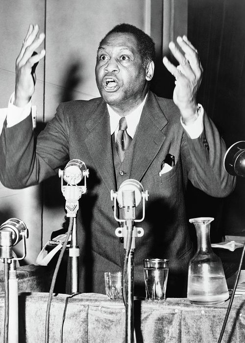 1949 Greeting Card featuring the photograph Paul Robeson (1898-1976) by Granger