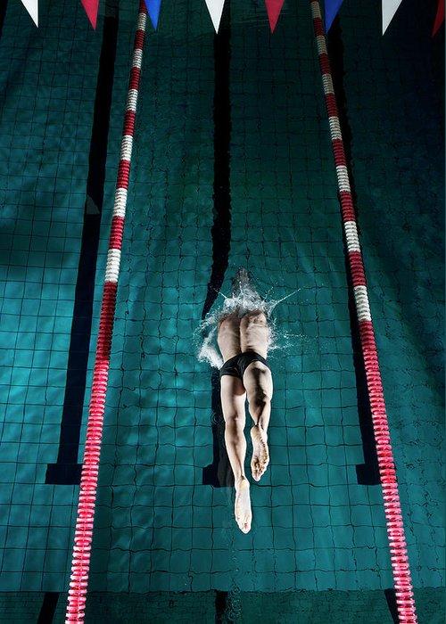 Copenhagen Greeting Card featuring the photograph Professional Swimmer by Henrik Sorensen