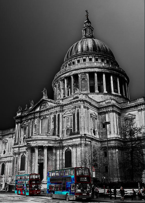 St Pauls Greeting Card featuring the photograph St Pauls Cathedral London Art by David Pyatt