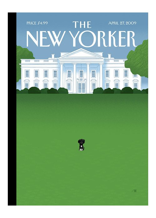 Obama Greeting Card featuring the painting New Yorker April 27th, 2009 by Bob Staake