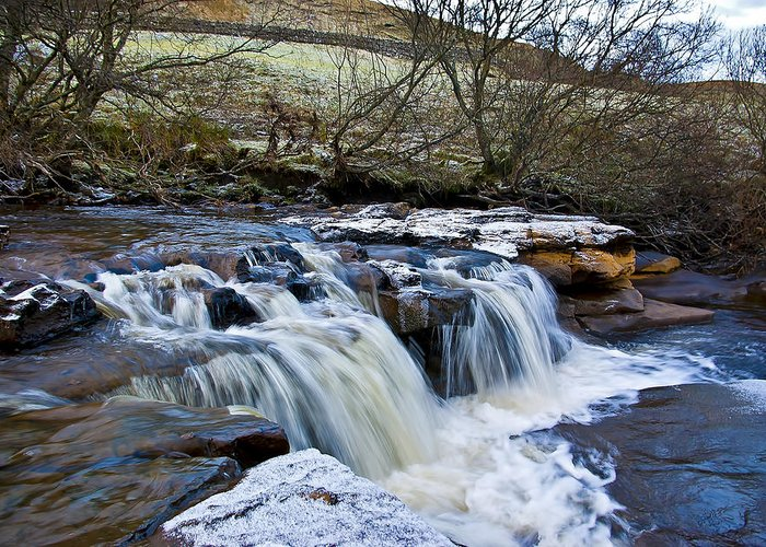 Wain Wath Force Greeting Card featuring the photograph Wain Wath Force by Trevor Kersley