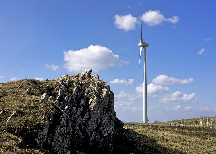 Wind Greeting Card featuring the photograph Wind Turbine by Bernard Jaubert