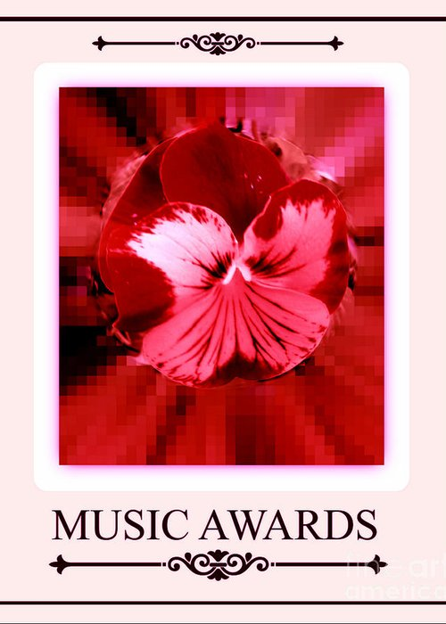 Fashion Greeting Card featuring the digital art Music Awards by Meiers Daniel