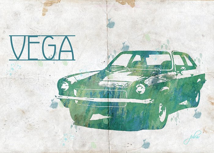 Feature Art Greeting Card featuring the digital art 71 Vega by Paulette B Wright