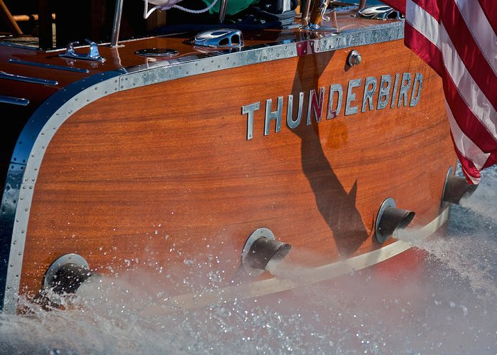 Classic Wooden Boat Greeting Card featuring the photograph Thunderbird by Steven Lapkin