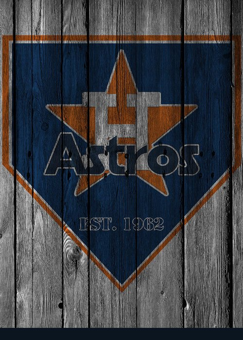 Astros Greeting Card featuring the photograph Houston Astros by Joe Hamilton
