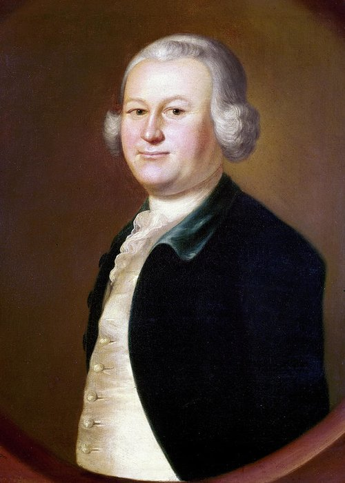 1755 Greeting Card featuring the painting James Otis (1725-1783) by Granger