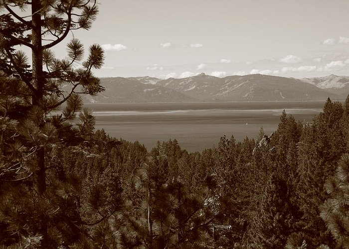 Alpine Greeting Card featuring the photograph Lake Tahoe by Frank Romeo