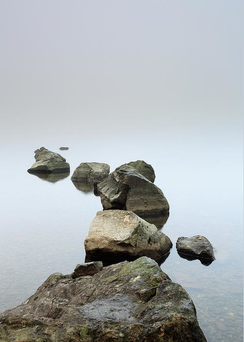 Fog Greeting Card featuring the photograph Loch Lomond by Grant Glendinning