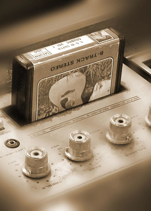 8-track Tape Player Greeting Card featuring the photograph 8-track Tape Player by Mike McGlothlen