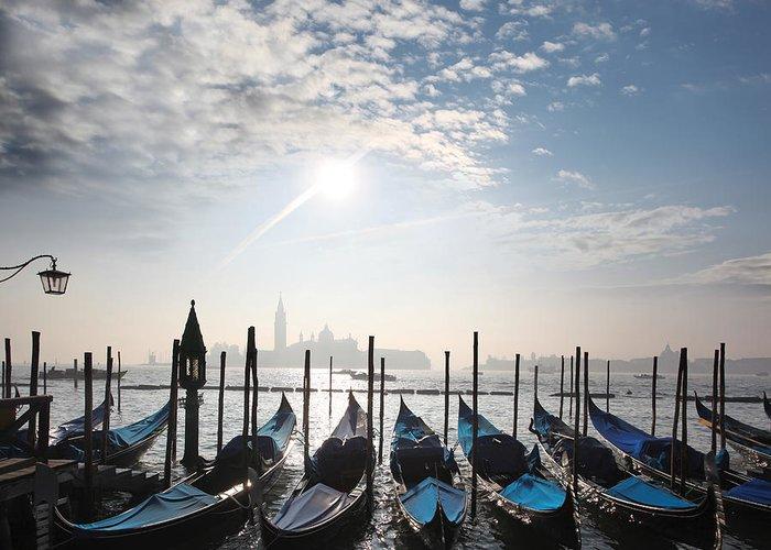 Landmark Greeting Card featuring the photograph Venice With Gondolas by Tomas Marek