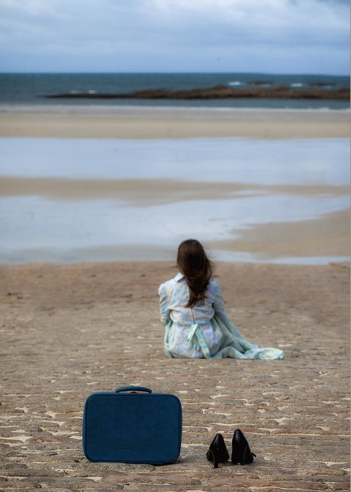 Woman Greeting Card featuring the photograph Waiting by Joana Kruse