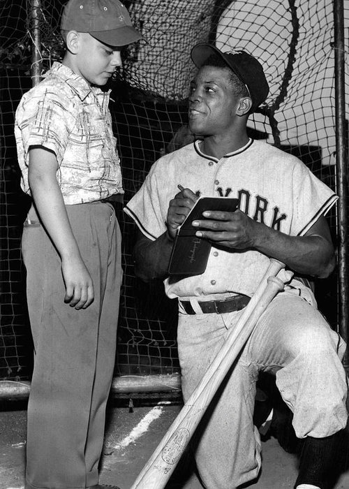 classic Greeting Card featuring the photograph Willie Mays by Retro Images Archive