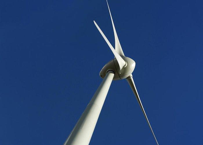 Renewable Energy Greeting Card featuring the photograph Wind Turbine by Bernard Jaubert