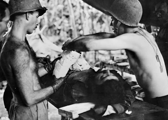 1942 Greeting Card featuring the photograph World War II New Guinea by Granger