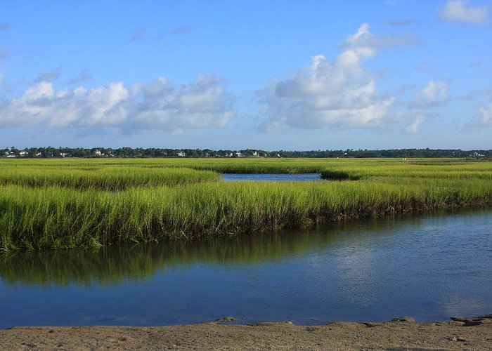 Wrightsville Beach Greeting Card featuring the photograph Wrightsville Beach Marsh by Mountains to the Sea Photo
