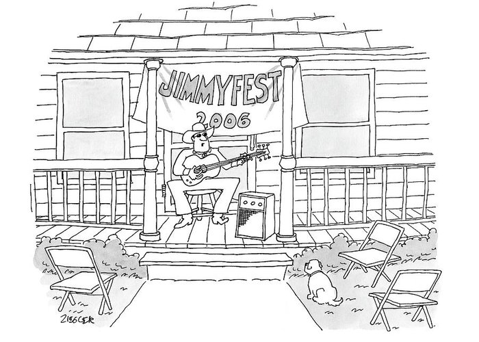 Country Greeting Card featuring the drawing Jimmyfest 2006 by Jack Ziegler