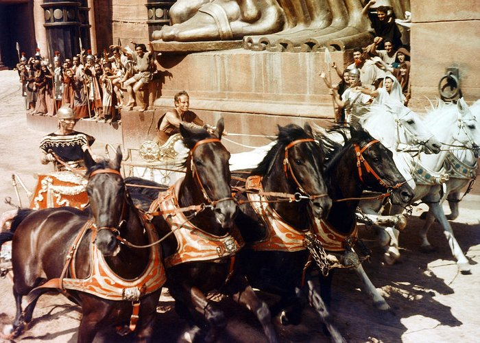 Ben-hur Greeting Card featuring the photograph Charlton Heston In Ben-hur by Silver Screen