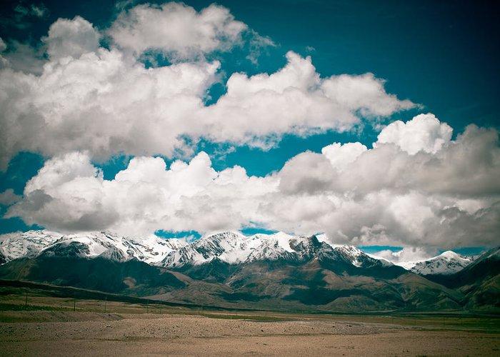 Landscape Greeting Card featuring the photograph Himalaya Range by Raimond Klavins