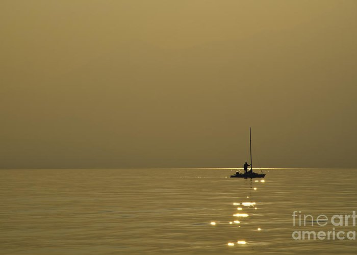 Boat Greeting Card featuring the photograph Sailing Boat by Mats Silvan