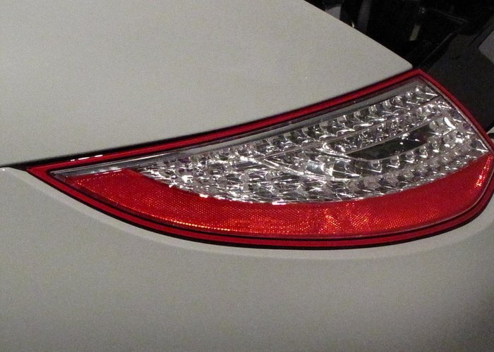 2010 Porsche 911 Sport Classic Carrera Greeting Card featuring the photograph 911 Taillight by Kelly Mezzapelle