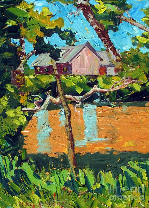 Van Gogh's Outdoor Studies Greeting Card featuring the painting 93 Degrees On The Eel by Charlie Spear