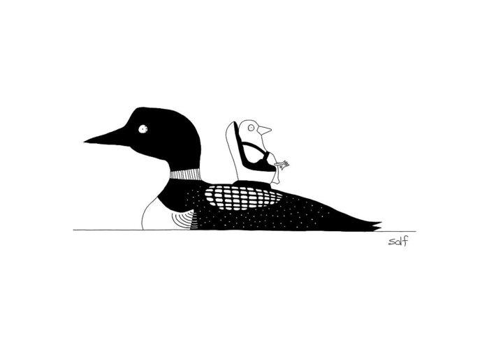 Ducklings Drawings Greeting Cards