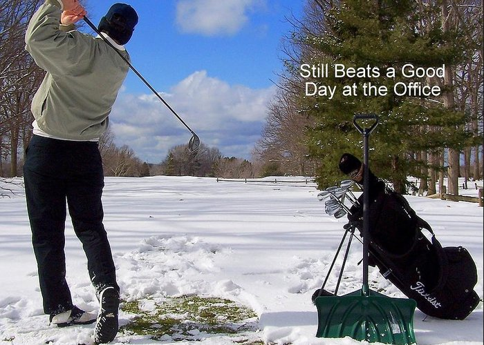 Country Club Greeting Card featuring the photograph A Bad Day On The Golf Course by Frozen in Time Fine Art Photography