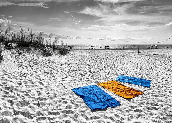 Selective Color Greeting Card featuring the photograph A Beautiful Day by Edward Kreis