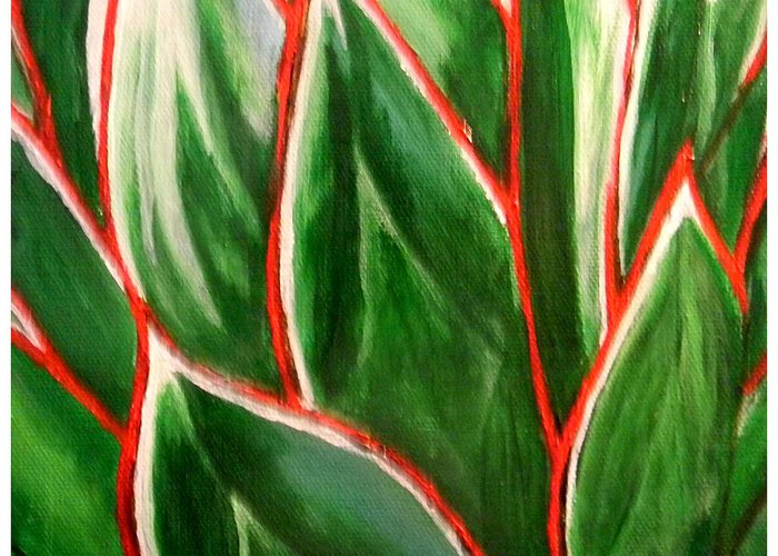 Agave Greeting Card featuring the painting A. 'blue Glow' by John Shipp