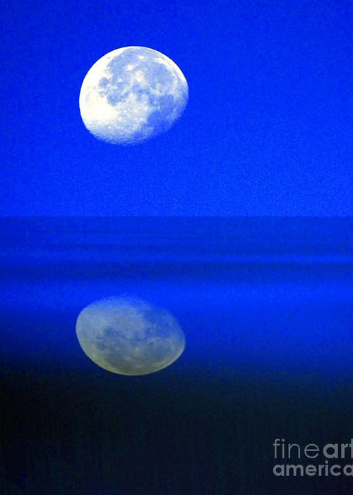 Senic Greeting Card featuring the photograph A Blue Moon. by Robert Kleppin