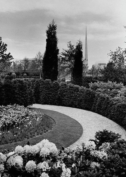 Garden Greeting Card featuring the photograph A Bobbink & Atkins Garden by Ben Schnall