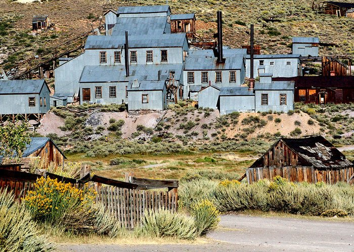 Ghost Town Prints Greeting Card featuring the photograph A Bodie View From Above by Joseph Coulombe