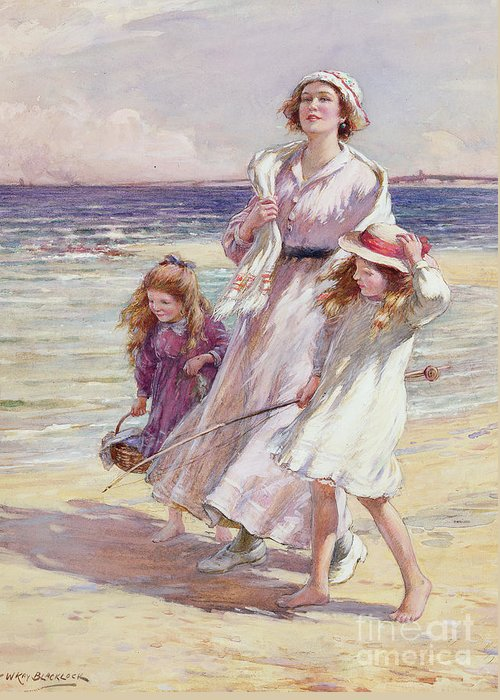 Windy Day At Beach Greeting Cards