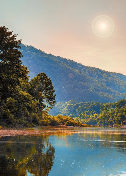 Sunset Greeting Card featuring the photograph A Buffalo River Morning by Bill Tiepelman