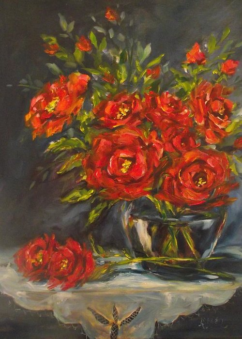 Flowers Greeting Card featuring the painting A Bunch For You by Angela Sullivan