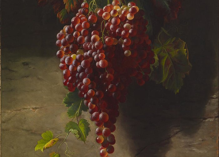 Andrew John Henry Way Greeting Card featuring the digital art A Bunch Of Grapes by Andrew John Henry Way