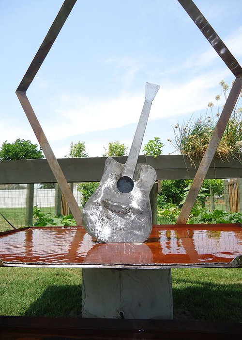 Welded Steel Water Feature Greeting Cards