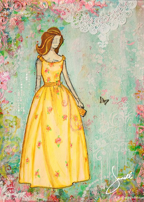Pink Dresses Greeting Cards