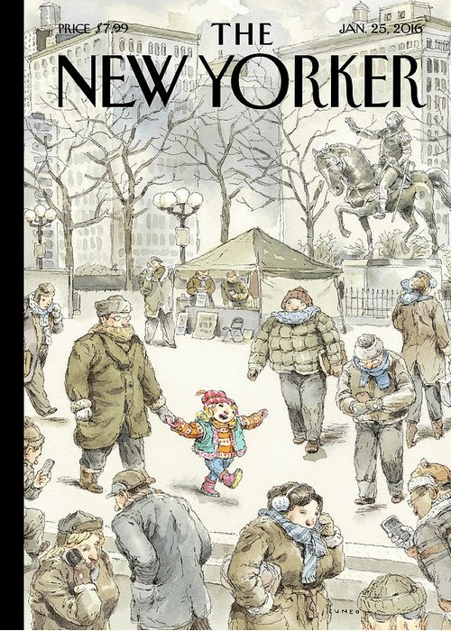 Child Greeting Card featuring the painting Winter Delight by John Cuneo