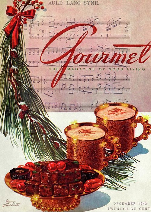 Illustration Greeting Card featuring the photograph A Christmas Gourmet Cover by Henry Stahlhut